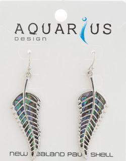 Paua Fern Earring