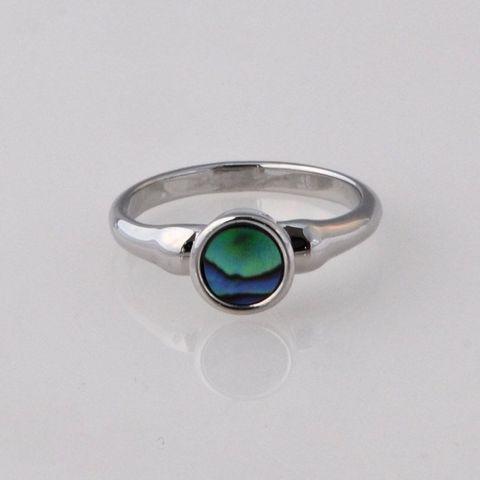 Paua/Chrome Ring