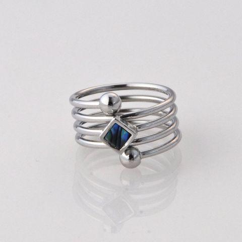 Paua Coil Diamond Ring