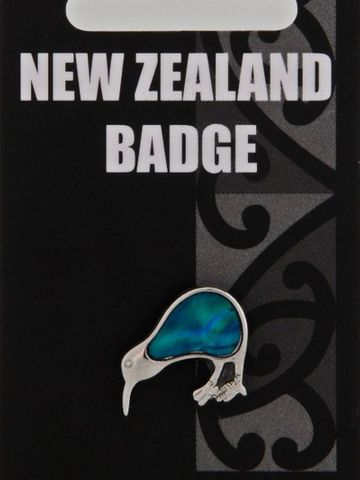 Blue Paua Kiwi Badge