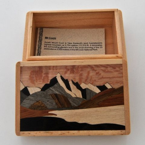 Mount Cook Wooden Box