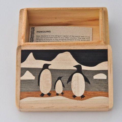 Penguin Wooden Box