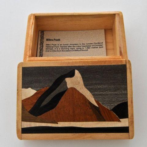 Mitre Peak Wooden Box