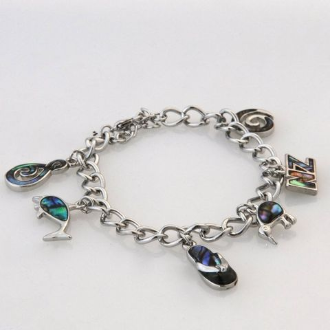 Paua Adults Charm Bracelet
