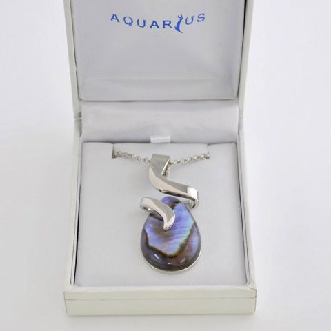 Boxed Paua Gallery Pear Swirl Pend