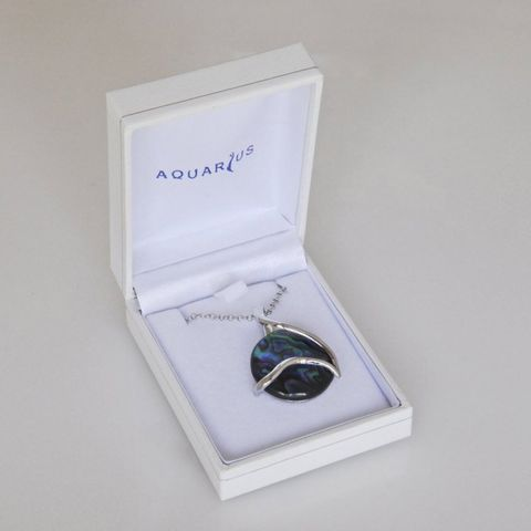 Boxed Paua Gallery Whale Tail Overlay Pendant