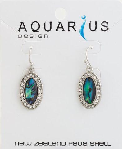 Paua Crystal Oval Earring
