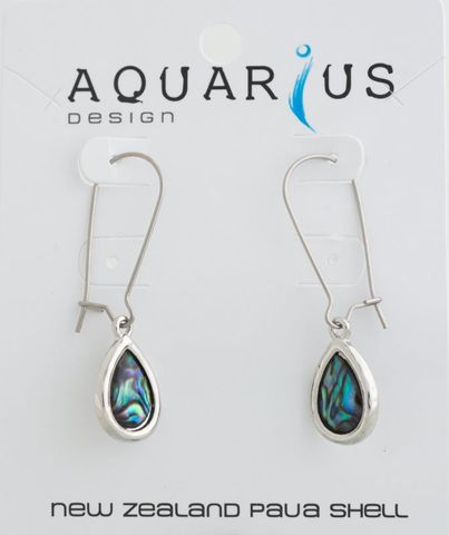Paua Long Teardrop Dangle Earring