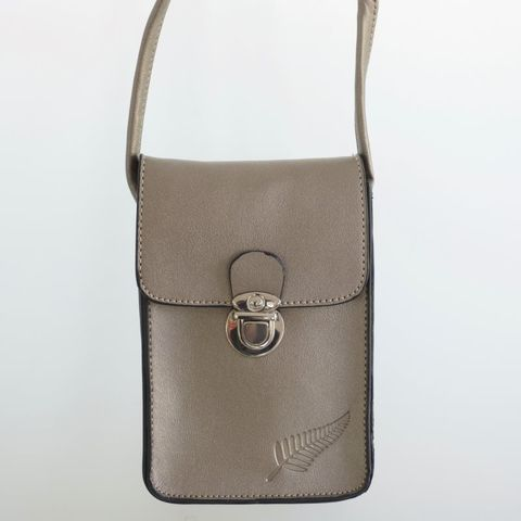 #Out of Stock#Steel Fern Embossed Upright Handybag