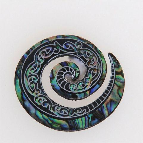 Natural Paua Koru Magnet