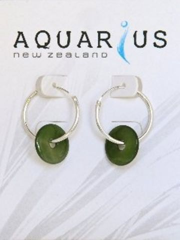 #Out of Stock#Jade Donut On Sleeper Earring