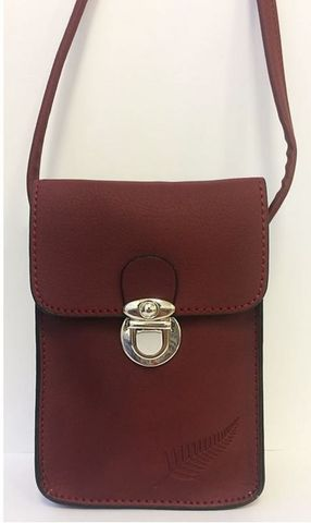 Wine Fern Embossed Upright Handybag