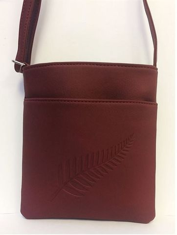 Wine Fern Embossed Medium Bag