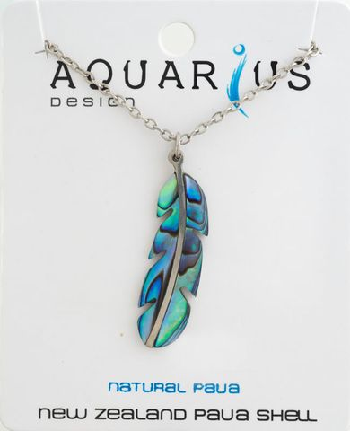Paua Feather Pendant