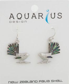Paua Fantail Earring