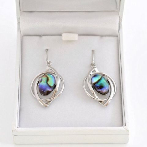 Boxed Paua Gallery Oval on twist setting HK ER