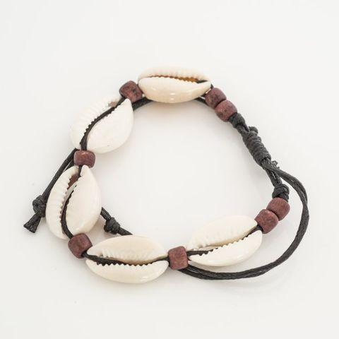 Cowrie Bracelet Dark Brown