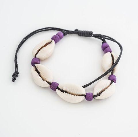 Cowrie Bracelet Purple