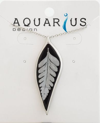 Resin Silver Fern Necklace