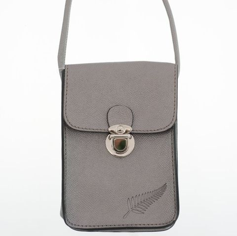 Pewter Fern Embossed Upright Handybag
