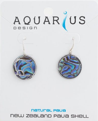 Paua Cut Out Kiwi Earring