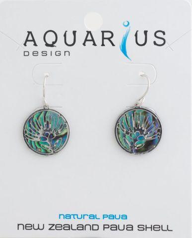 Paua Filigree Pohutukawa Earring