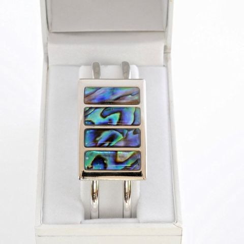 Boxed Paua Gallery Rectangle Cuff