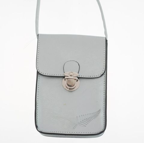 Silver Fern Embossed Upright Handybag