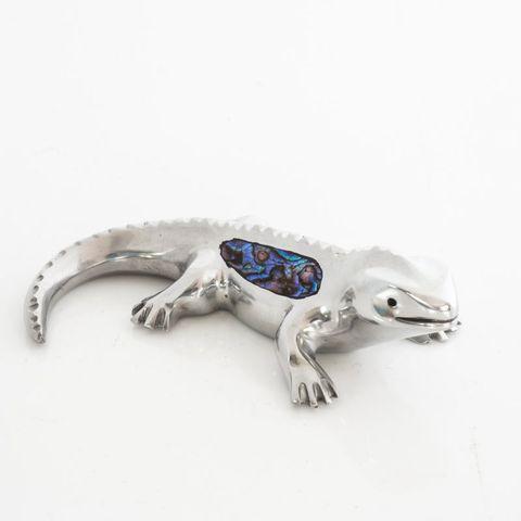 Paua Tuatara Ornament