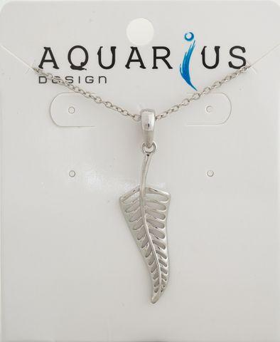 Small Silver Fern Pendant