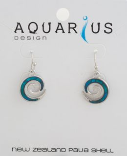 Koru Dyed Paua Earring