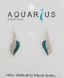 Dyed Paua Leaf Earring