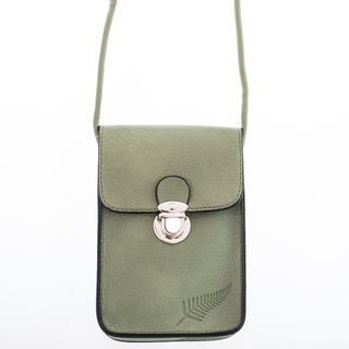 Sage Fern Embossed Upright Handybag
