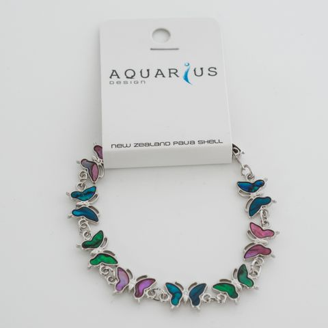 Paua Multi Coloured Butterfly Bracelet