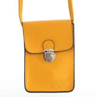 Mustard Fern Embossed Upright Handybag