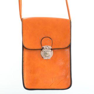 Orange Fern Embossed Upright Handybag