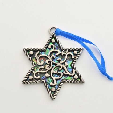 Paua Classic Star Christmas Ornament