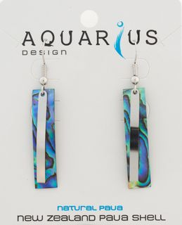 Paua Bar Earring