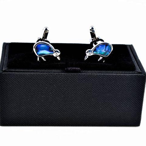 Blue Paua Kiwi Cufflinks