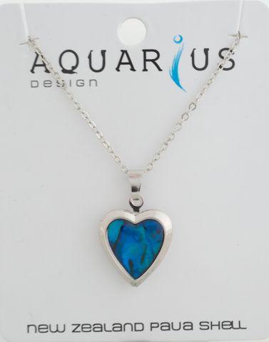 Blue Paua Locket Pendant