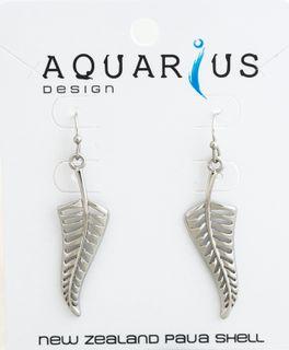 Silver Fern Earrings