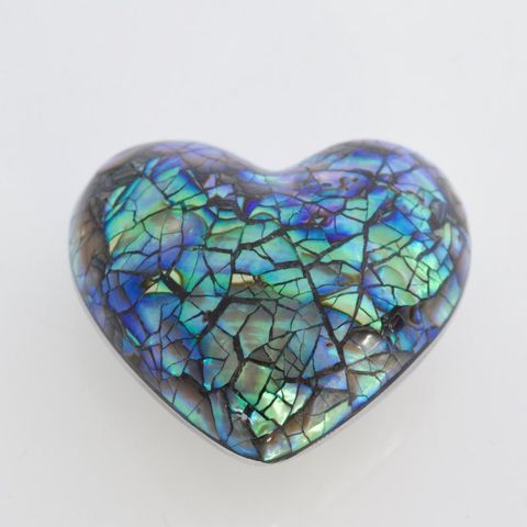 Paua Heart Ornament