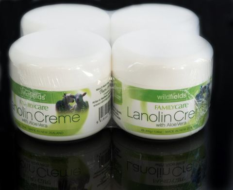 #Out of Stock#Multi-Pack 4 Lanolin Crème Wildfields 200g