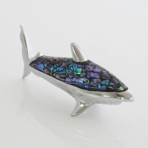 Paua Shark Ornament