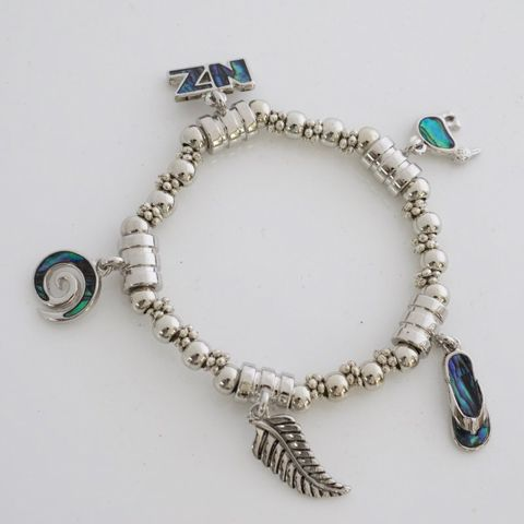 Paua Kiwiana Charms Bracelet
