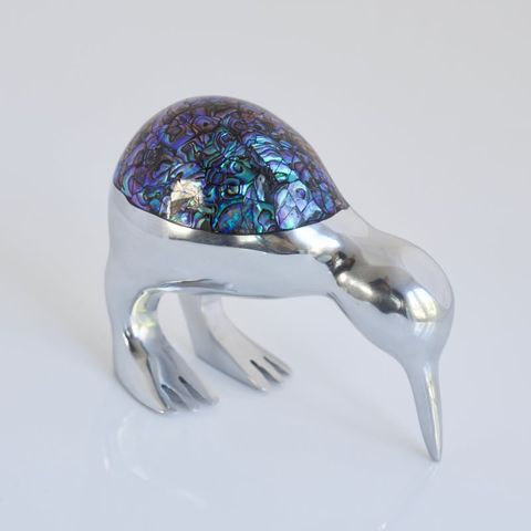 Medium Paua Kiwi Ornament