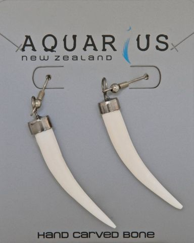 #Out of Stock#Bone Tusk Hook Earring