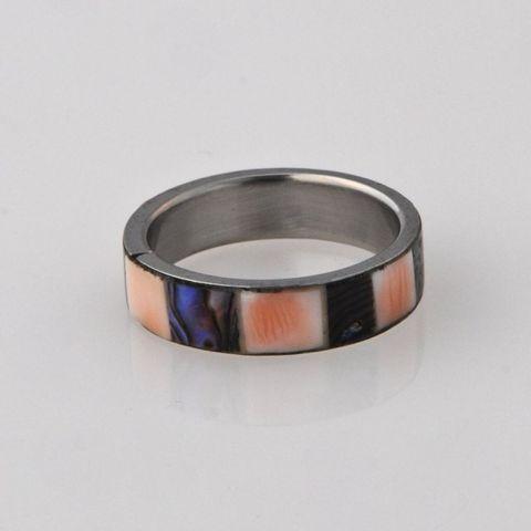 Paua/Pink 5mm Ring