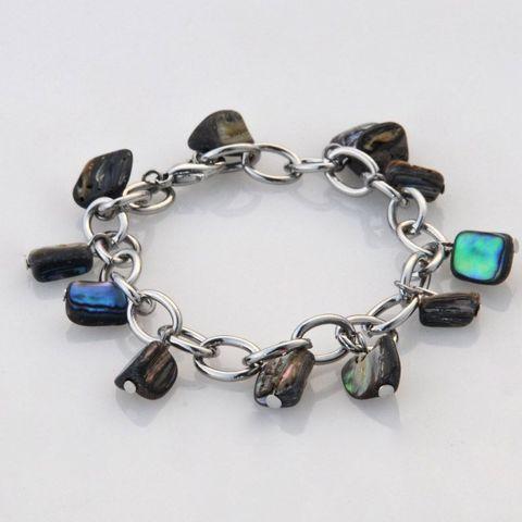 Paua Chunk Chain Bracelet