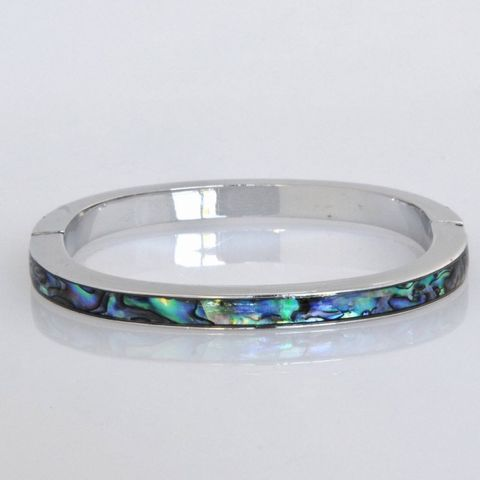 Paua Thin Magnetic Bangle